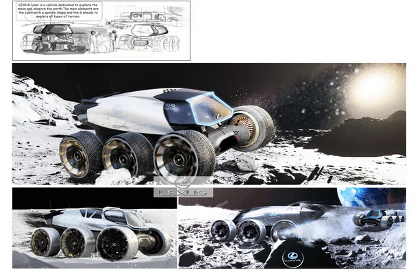 Lexus predstavio koncepte svemirskih automobila