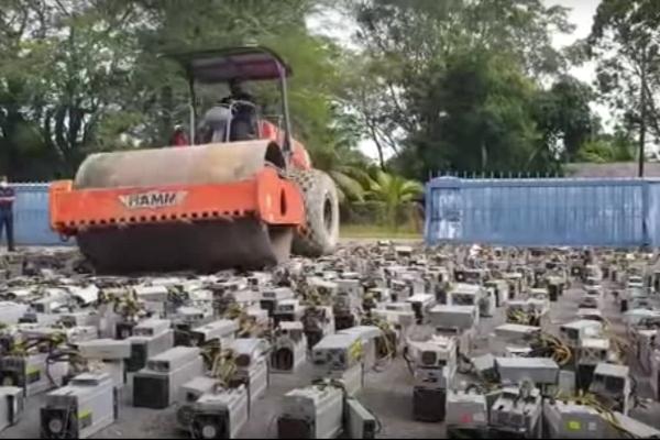 Malezijske vlasti uništile preko 1.000 zaplenjenih majnerskih rigova