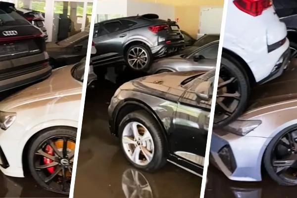 Desetine Audi modela potpuno uništeno u zastrašujućim poplavama u Nemčkoj