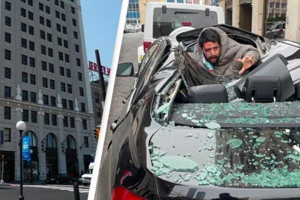 Skočio sa devetog sprata, uništio BMW i preživeo